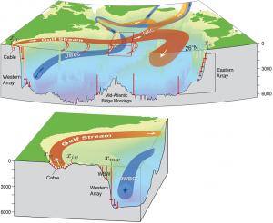 A schematic of the North Atlantic Ocean circulation (Credit: Buckley et al)