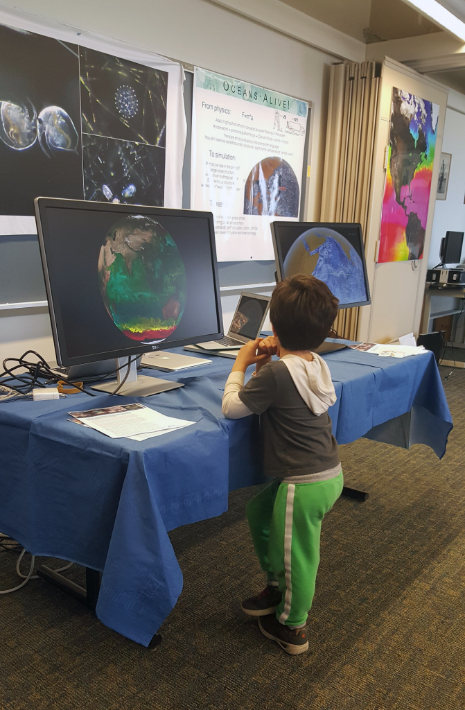 A young boy attends the Oceans Alive! event at MIT's Open House (Image: Deepa Rao)