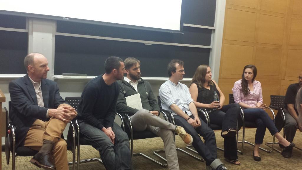 Researchers on panel 2 field questions. (Photo: Lauren Hinkel)
