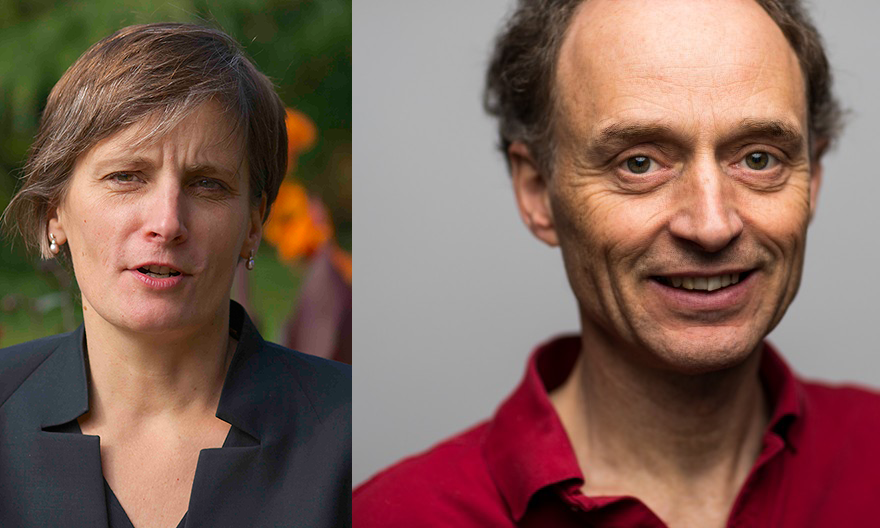 Fall 2016 Houghton lecturers: Corinne Le Quéré and Chris Bretherton