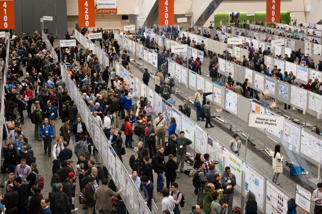 AGU Fall meeting 2016 poster hall