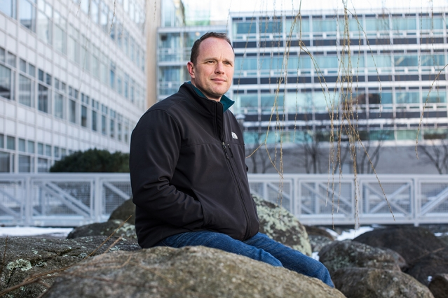 Oliver Jagoutz is a newly tenured associate professor of geology in MIT's Department of Earth, Atmospheric and Planetary Sciences (EAPS). (Photo: Jake Belcher)