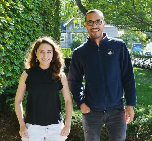 WHOI scientists Gabriela Farfan and Luis Valentin-Alvarado are co-organizers for a public scientific symposium in Spanish and Portuguese scheduled for this weekend at WHOI. (Photo: Andrea Carter/Enterprise)