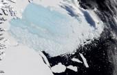 Antarctic Larsen B Ice Shelf collapse / Nasa Earth Observatory